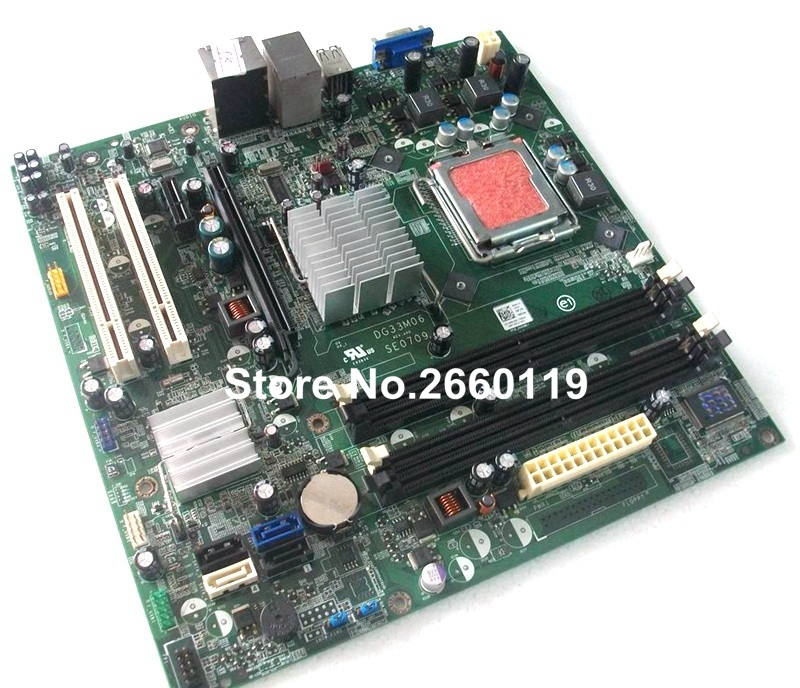 ФОТО 100% Working Desktop Motherboard For Dell 545 DG33M03 G33M05 System Board fully tested
