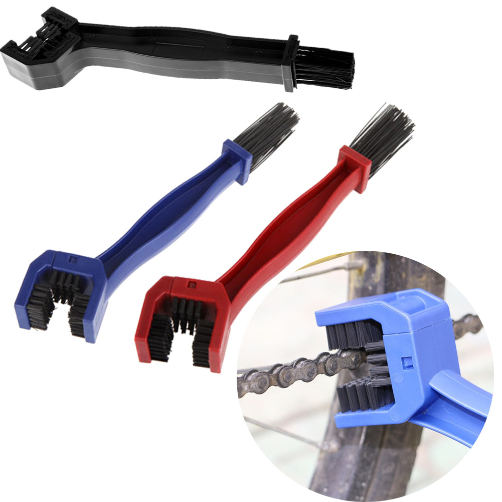 Motorcycle Bicycle Chain Cleaning Brush Cycling Mountain Bike Brake Chain Cleaner Dust Dirt Remover Repair Hand Tool