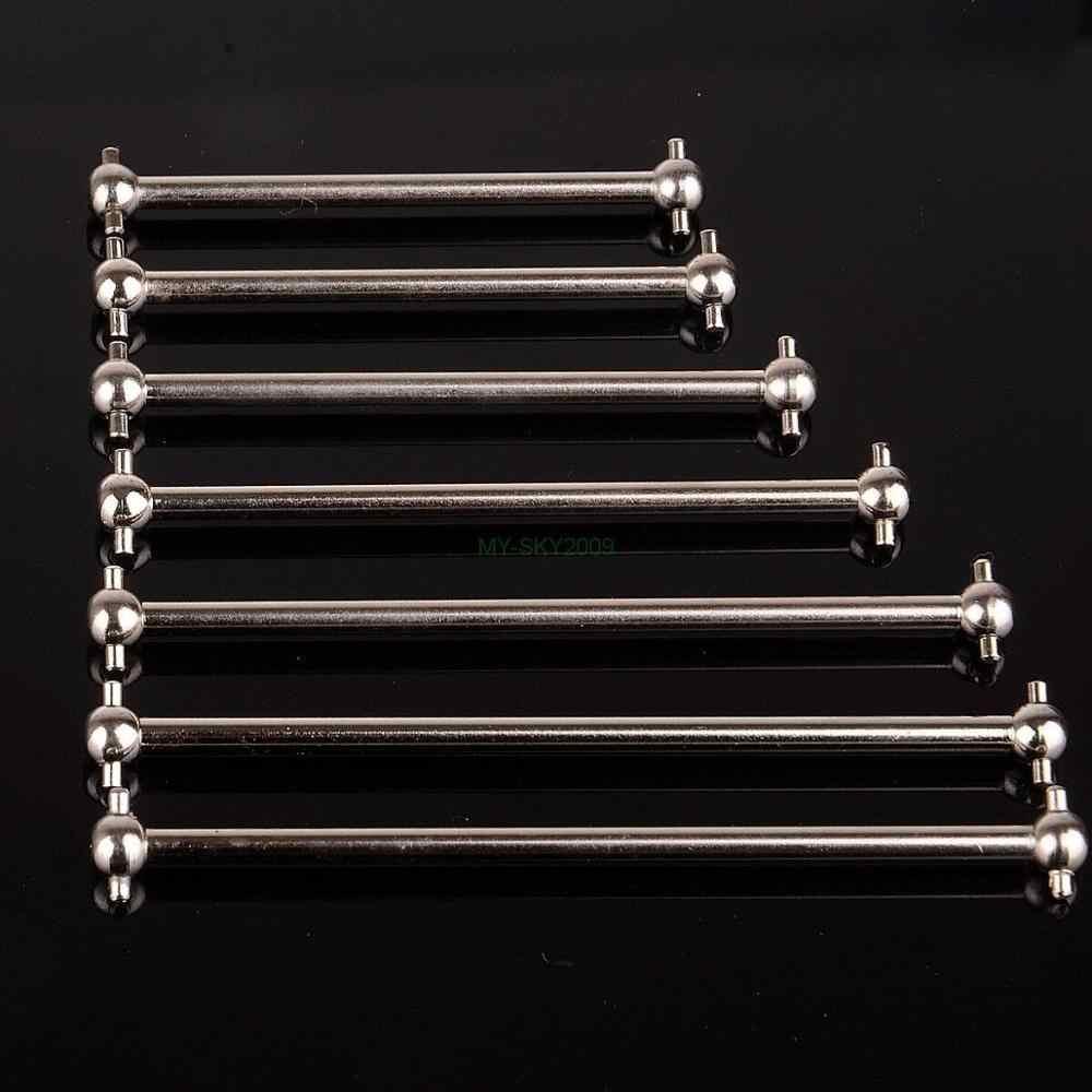 2 uds de Metal de acero RC coche del eje Dogbone 61mm 63mm 70mm 77mm, 84mm, 86mm, 89,5mm para HSP y bricolaje