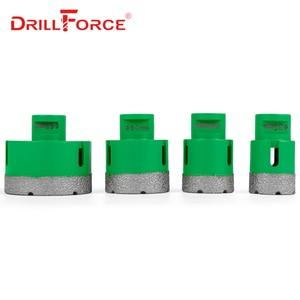 Image 5 - Drillforce 4 ADET Elmas Delik Testere Seti 35/40/50/68mm M14 Dayanıklı Carborundum Seramik M14 iplik Matkap Çekirdek