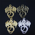 Graceangie 24 unids estilo vintage mixta dragón collar del encanto de encontrar pendiente de la joyería accesorios 30*27*2mm caliente 37994