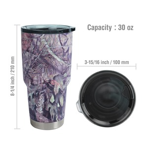 Image 5 - MOSSY OAK  30 Oz Double Wall Vacuum Insulated Coffee Cup Stainless Steel Camo Tumbler Travel Mug for Cold & Hot Drinks