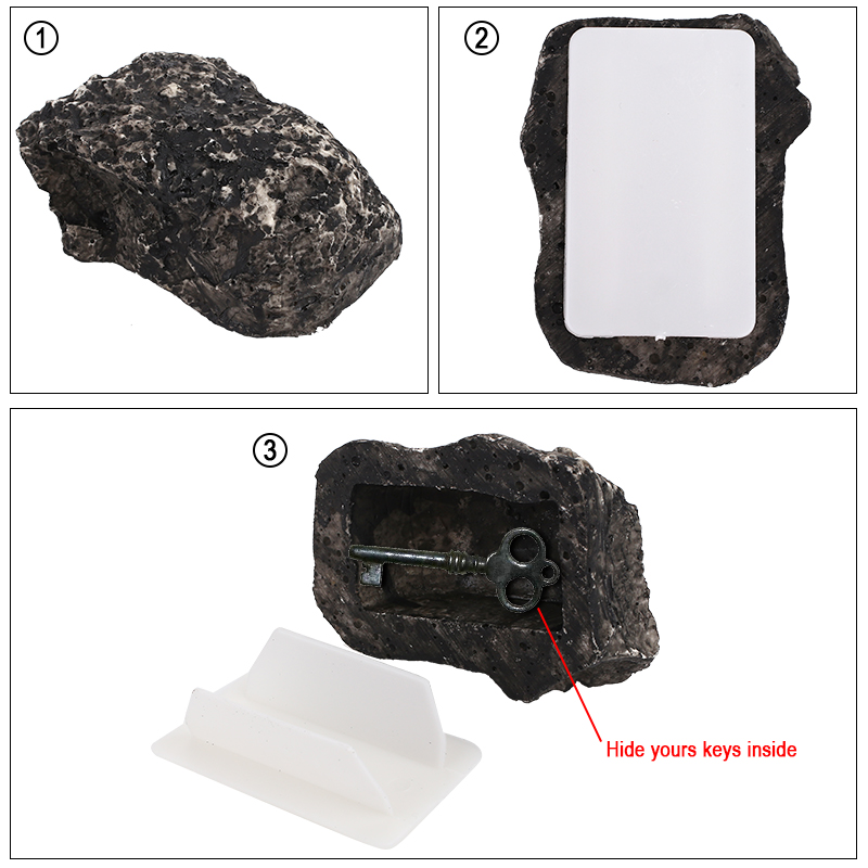 Safety Box Simulation Rock Stone Case Creative Key Safe Stash Case Key Safe Box Cash Saving