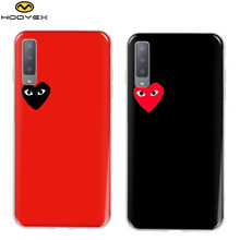 2f0aa6db0792fb Love CDG Play Comme des Garcons Soft TPU Protect cover case For Samsung  Galaxy A7 2018
