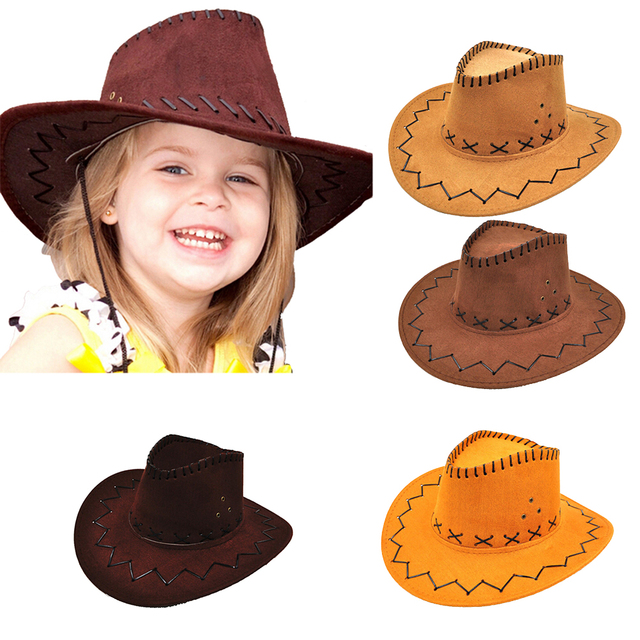 5e8d19747abdd4 1pcs Cowboy Hat Children Kids Jazz Bull Rider Cowboy Cowgirl Western Travel  Summer Hat Sunhat Baby Girls Boys Caps-in Hats & Caps from Mother & Kids on  ...