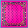 New Arrival  Fashion Lady Shawl 100% Silk Multi Color Square Scarf Size 100 cm*100 cm Large Square Scarf For Women