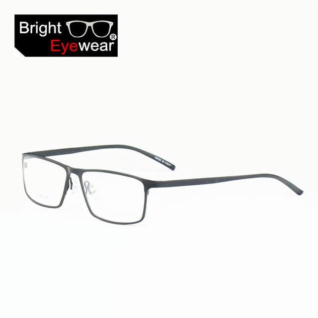 1ad083a7 Marca nuevos pure titanium fotograma completo gafas marco de anteojos  recetados óptica montura de gafas 8184 en Marcos Eyewear de Ropa y  Accesorios