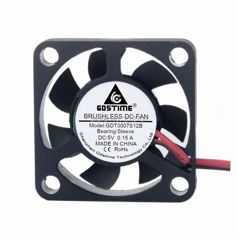 DC Brushless Cooling Cooler Mini Case Fan DUPONT 2-Pin 5v 3cm 30mm 30x30x7mm