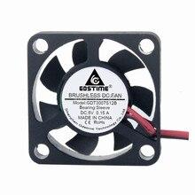 лучшая цена 5PCS GDT 2Pin 30mm 3cm 3007 30x30x7mm 5V DC Mini Exhaust Fan