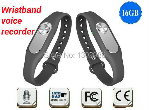 FreeShipping New Colorful Wearable Wristband 16GB Digital Voice Recorder Long Time Recording usb flash drive WR06