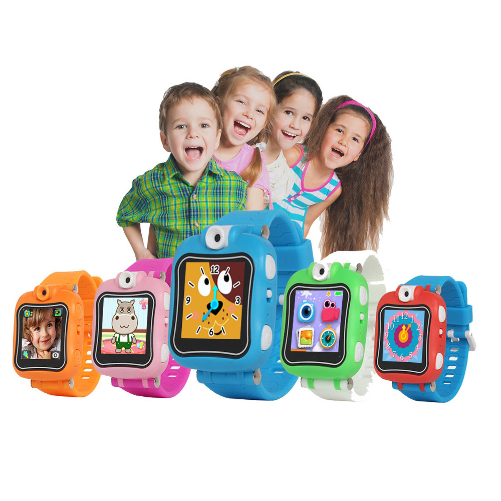 Smart childrens watches 1.4 touch screen wrist watch with front camera video games play smart watches for children