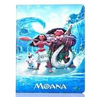 Tablet Case For Apple Ipad Air 2 Ipad 6 Fashional MOANA Movie Prints PU Leather Protective