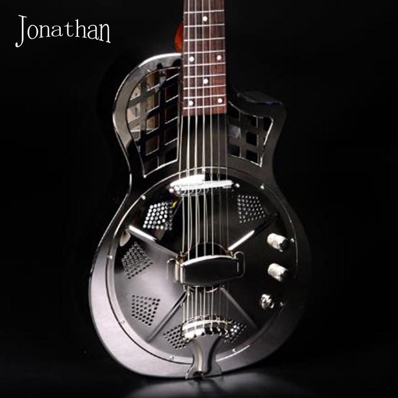 jonathan 1711 resonator guitar resophonic guitars metal body duolian guitar in guitar from. Black Bedroom Furniture Sets. Home Design Ideas