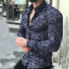 Chemise Casual Comfort Printed Floral Long Sleeve Shirt  1