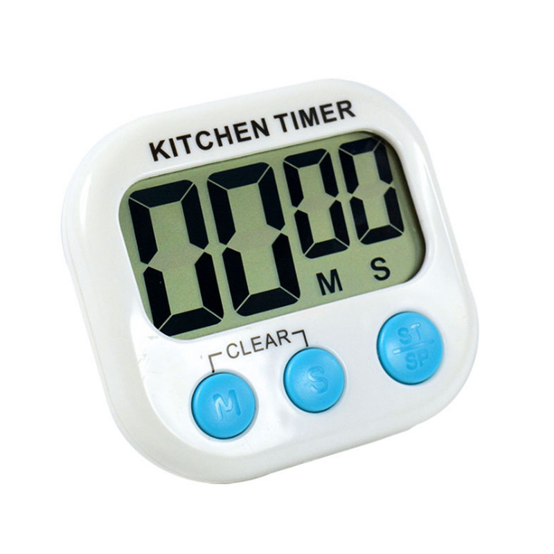 Home Decor Lcd Digital Kitchen Countdown Timer Alarm With Stand White Kitchen Timer Practical Cooking Timer Alarm Clock Regular Tea Drinking Improves Your Health Alarm Clocks