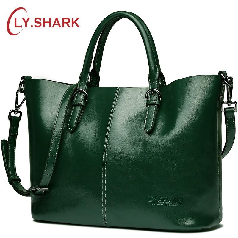 LY. Акула зеленый сумки женские натуральная кожа сумка женщины сумка женская сумка для женщин композитный сумка Красный