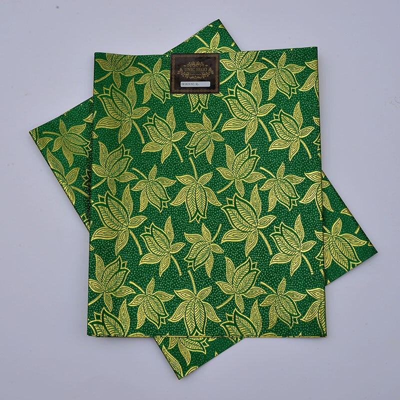 SL-1434, nieuwste ontwerp, afrikaanse sego headties, gele & wrapper, 2 stks / set, hoge kwaliteit, vele kleuren beschikbaar, NIGERIA GROEN