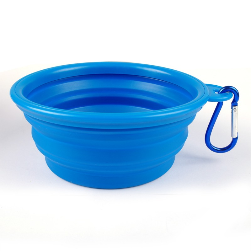 Dog Bowl, Dog Cat Pet Travel Bowl Silikone Foldbare Foder Vand Skål - Pet produkter - Foto 5