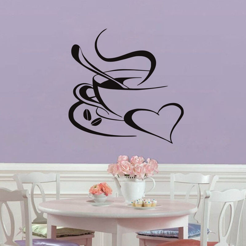 Dream home G147 best selling custom wallpaper coffee cup pattern wall paste home interior removable waterproof wallpaper in Wall Stickers from Home Garden