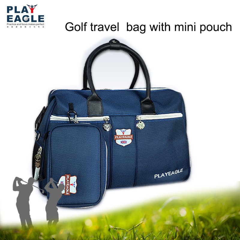 PLAYEAGLE Outdoor Golf Boston Bag with Separate Shoes Area Waterproof Nylon Golf Clothing Hand Bag with Mini Golf Pouch Golf Bag golf putting mat mini golf putting trainer with automatic ball return indoor artificial grass carpet