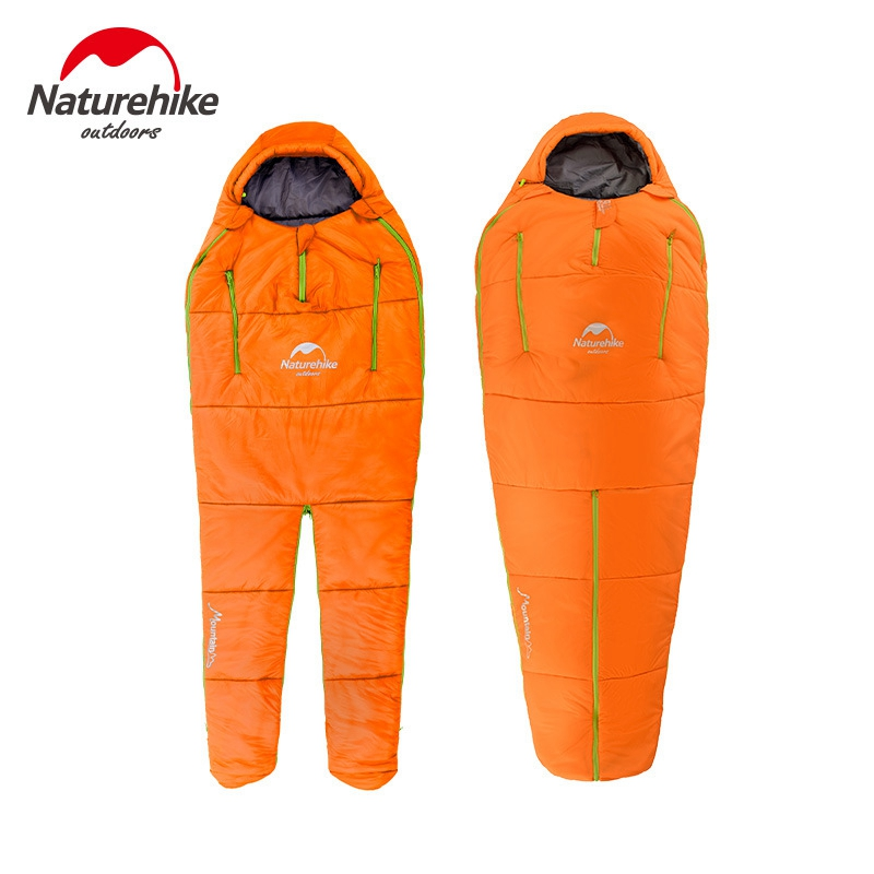 Naturehike Splicing Mummy Single Sleeping Bag Cotton Leg Split Family Outdoor Indoor Human Shape Adult Camping In Bags From Sports