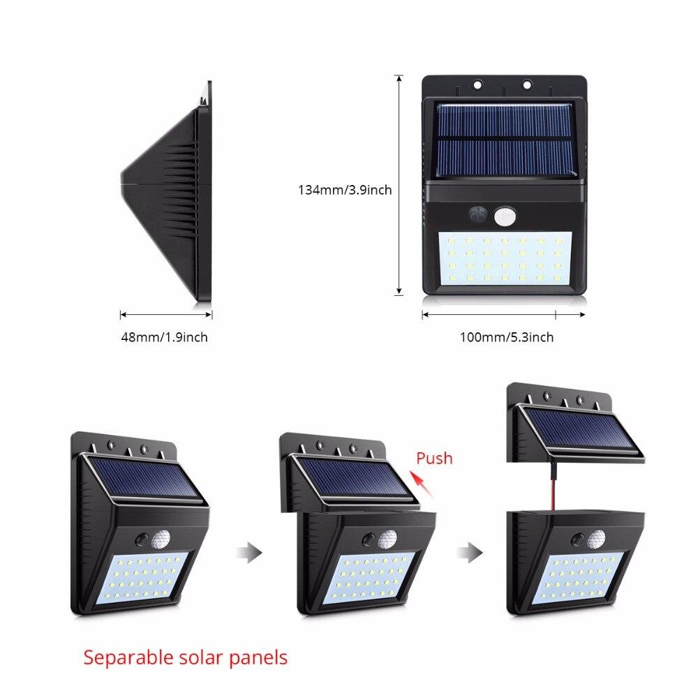 Dipimpin Malam Surya Luar Pir Motion Sensor Solar Power Led Dinding Lampu Dipisahkan Untuk Halaman Taman Pintu Jalur Keamanan Pencahayaan Night Light Solar Night Lightwall Night Light Lamp Aliexpress