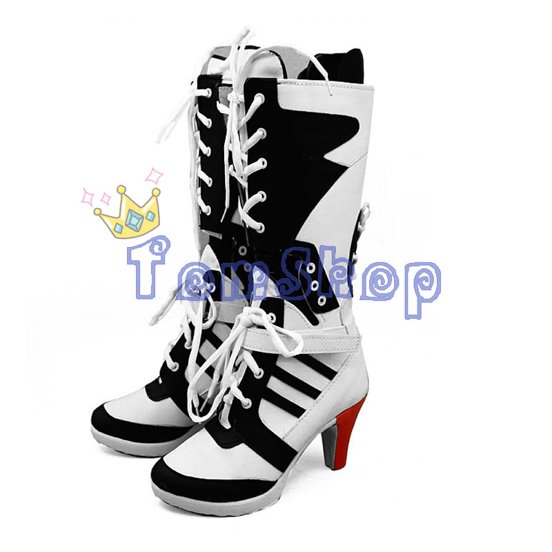 Batman Suicide Squad Harley Quinn Boots The Joker Cosplay Shoes High Heels Women Halloween Party Costumes