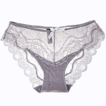 8 цветов, сексуальные кружевные мягкие воздухопроницаемые трусики, нижнее белье для женщин, прозрачные Соблазнительные хлопковые трусы с низкой посадкой