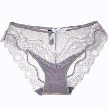 3f61f724c 8colors Sexy Lace Panties Soft Breathable Briefs Women Underwear Ladies  Panty Transparent Tempting Low-Rise