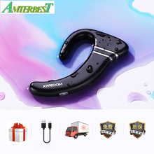AMTERBEST Bluetooth гарнитура беспроводной мини спортивные водостойкие костной проводимости стерео наушники HiFi бас для смартфонов