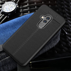 Image 2 - For Huawei Mate 20 Lite Case Mate 20 Lite Cover Soft TPU Bumper Leather Texture Silicone Rugged Case For Huawei Mate 20 Lite