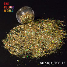 TCT-073 holográfico 12 cores solvente, mylar, tubarão, glitter para arte de unha, decoração, arte corporal, maquiagem, diy, decoração manual
