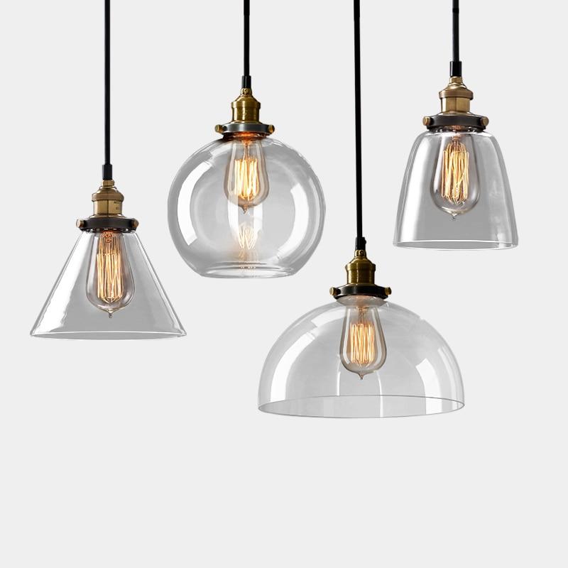Vintage hanglamp kom glazen hanglamp Edison licht hanglamp Keuken - Binnenverlichting - Foto 6