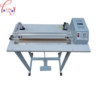 Double electric hot wire foot pedal sealing machine SF 400 food plastic bags seal packaging machine 110/220V 500W