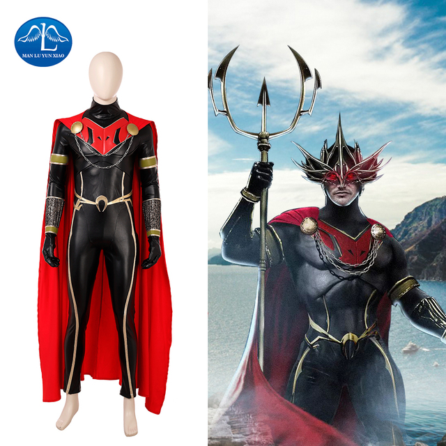 manluyunxiao new 2018 movie aquaman ocean master orm cosplay costume halloween costumes for men full set