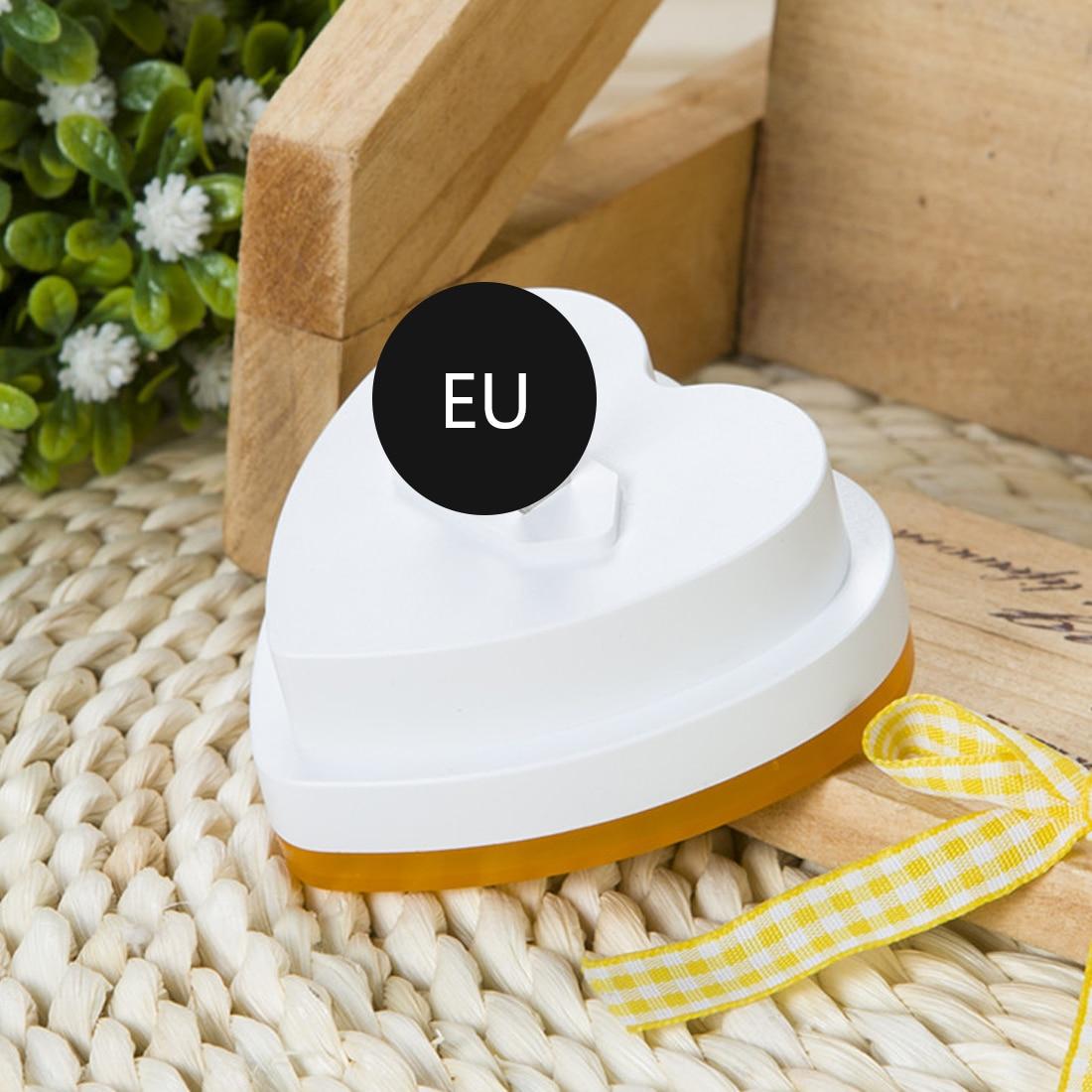 LED Light Induction Sensor Control Bedroom Night Lights Auto Bed Lamp Heart Shape 110-220V EU Plug 4 Colors