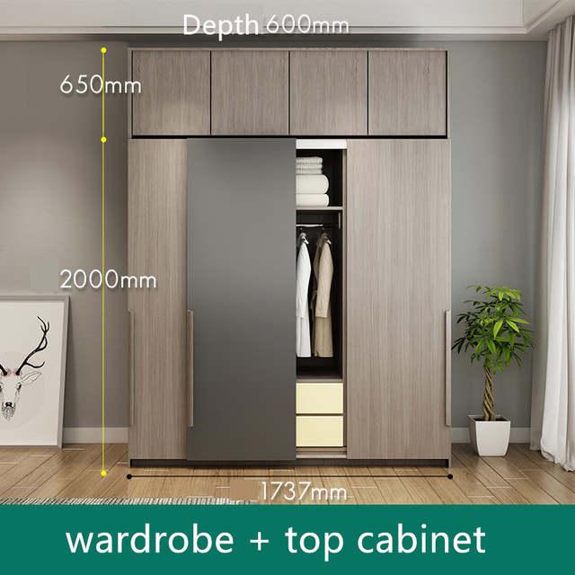 Modern MDF dressing chambre wardrobe cabinet design