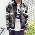 Novo 2016 moda estilo da camuflagem militar jaqueta homens jaqueta casual fino dos homens veste homme roupas plus size m-5xl/JK31