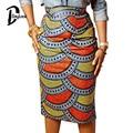 DayLook 2016 Summer Style Multicolor Skirts Womens African Print Skirt High Waist Knee- Length Pencil Skirt Bodycon Vintage Saia
