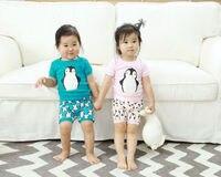 2017 Children Clothes Sets Baby Girl Sleepwear Short Sleeve Kids Pajamas For Girl Cotton Summer Pajamas