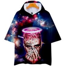 LUCKYFRIDAYF lil peep Suicide Squad Short Sleeve Hoodies Sweatshirts Harajuku Women/Men Hip Hop Clothes 4XL