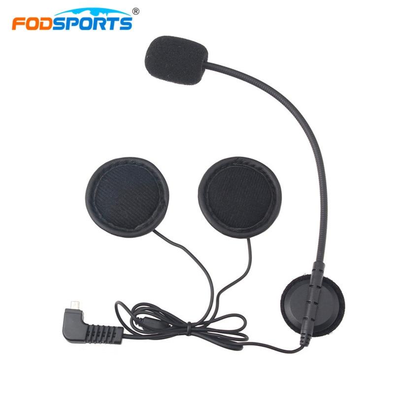 Fodsports Intercom Headphone Earpiece for BT-S2 1000M Bluetooth Helmet Headsets Interphone Stereo Earphone