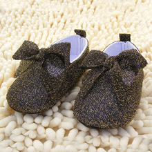 Baby Infant Toddler Sneakers Shoes Girls Soft Sole Silk Ribbon Bow Crib Dance Pre-walker Shoes