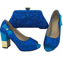 bee55a4255b6c8 New Royal Blue Shoes and Bag Sets for Women Italian Shoes and Bags To Match  Shoes