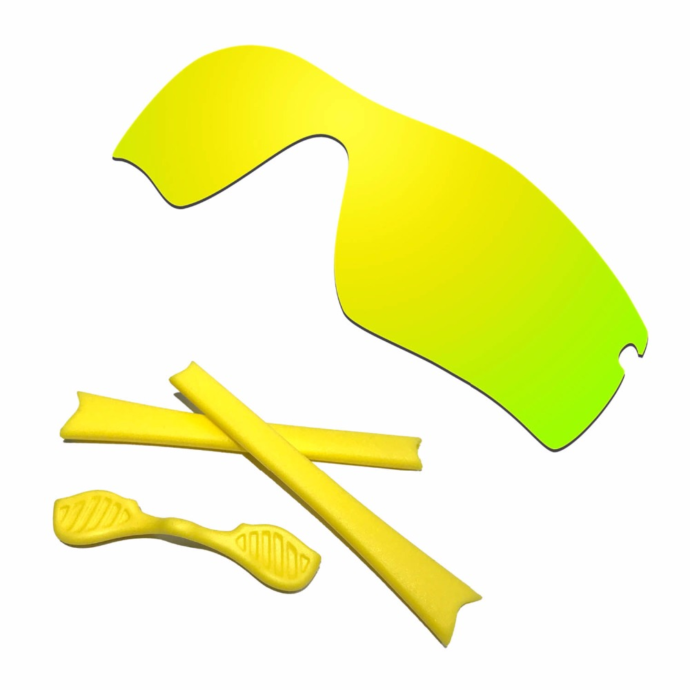HKUCO For Radar Path Polarized Replacement Lenses And Yellow Earsocks Rubber Kit Combined sale