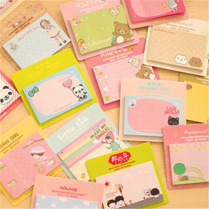 מפעל ישיר למכור חמוד נוחות מדבקת כרטיס הערות של סטודנט קוריאני מכתבים נייד N הודעה מדבקת קטן מתנה