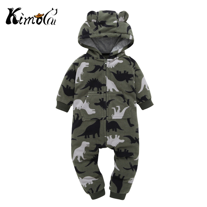 Kimocat Baby Boy Rompers Winter Warm Kids Overalls Thermal Cotton T Long Sleeve Soft Jumpsuit 6-24 Months Pakaian Bayi