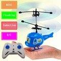 Bebé juguetes Mini avión de la historieta muchacho aviones inducción control remoto juguetes rc helicóptero pequeño intermitente suspensión niños avión de juguete
