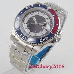 Bliger 40mm zegarki mechaniczne czarny czerwony ceramiczny Bezel Diver zegarek automatyczny ze stali nierdzewnej Sapphire rolę luksusowe zegarka mężczyzna|Zegarki mechaniczne|   -