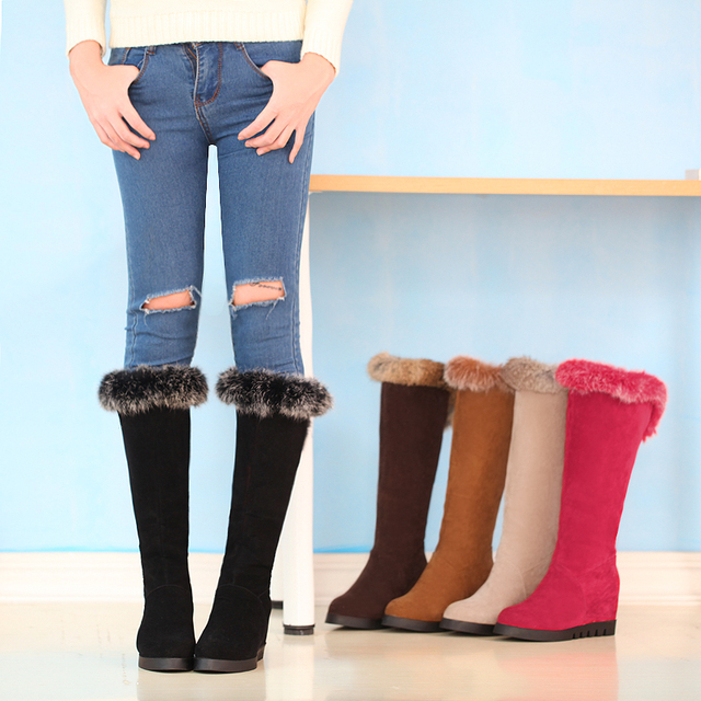 Aliexpress.com : Buy Snow Boots 2015 Size 34 43 Fashion Women Warm ...
